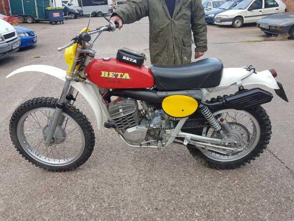 Beta 250 Regolarita oval frame at Owens Moto Classics